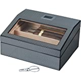 Visol Products Darnell Carbon Fiber Pattern Cigar Humidor