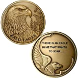 Personalized Custom Engraved Bald Eagle Premium Bronze - Challenge Coin - Medallion - 1 7/8 in (47mm) Round