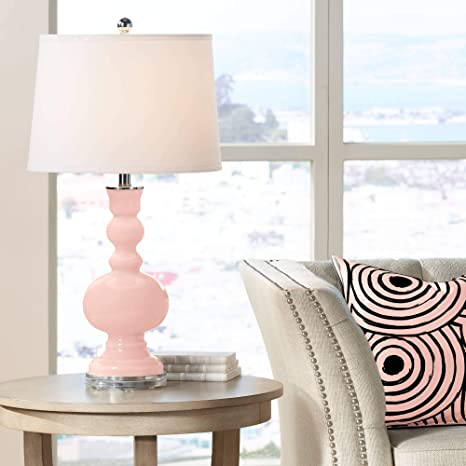 Amazon.com: Modern Table Lamp Rose Pink Glass Apothecary ...