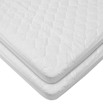 5e6ef03fd00 Amazon.com   American Baby Company Waterproof Fitted Quilted Bassinet Mattress  Pad Cover