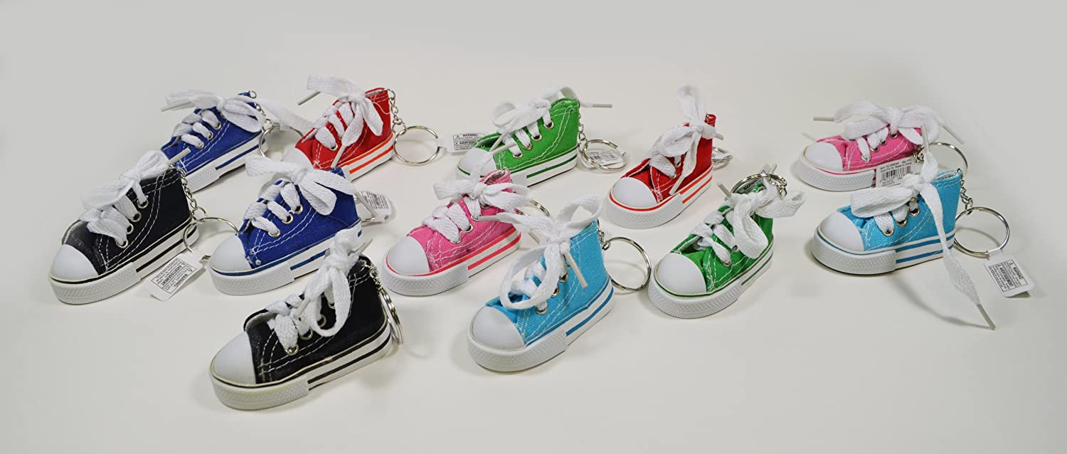 1d64d6bf25e9 Amazon.com  Rhode Island Novelty Lot of 12 Chuck Sneaker Canvas Tennis Shoe  Keychain Party Favors  Toys   Games