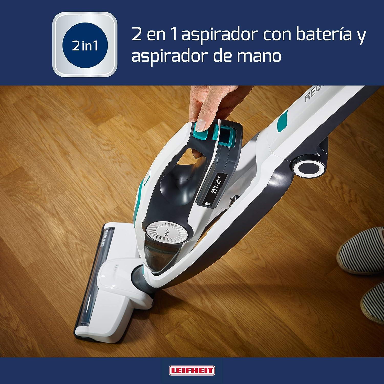 Leifheit Aspirador de batería Regulus PowerVac 2in1 con 40 min de autonomía y aspiradora de mano, aspirador potente e inalámbrico de 20 V sin bolsa: Amazon.es: Hogar