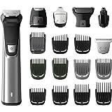 Philips MG7770 Serie 7000 Grooming Kit Rifinitore Impermeabile in Acciaio, con 18 Accessori, per Barba, Capelli e Corpo