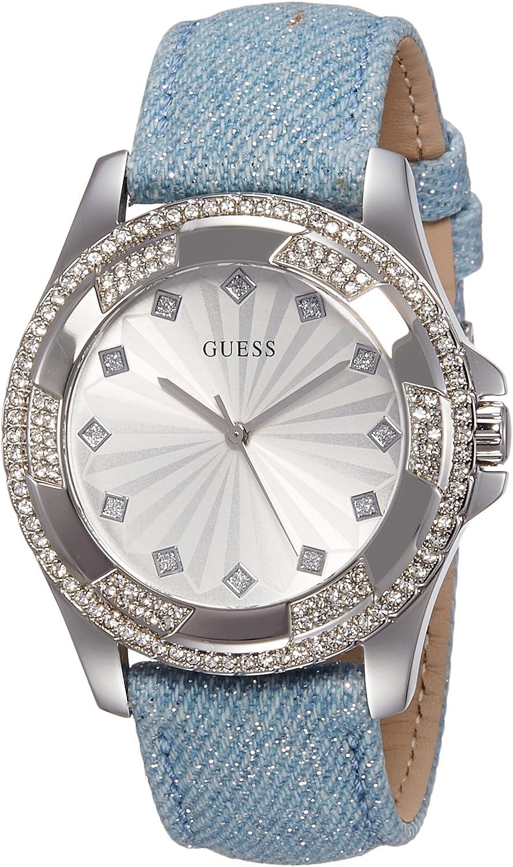 Guess Reloj analogico para Mujer de Cuarzo con Correa en Tela W0703L1