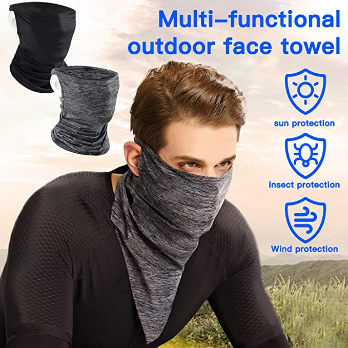 4 Pieces Balaclava Face Cover Neck Gaiter Face Cover Scarf Wind-Resistant Balaclava Tube Motorcycle Ski Scarf Full Face with Long Neck Cover for Men Women Dust Protection in Outdoor Activities