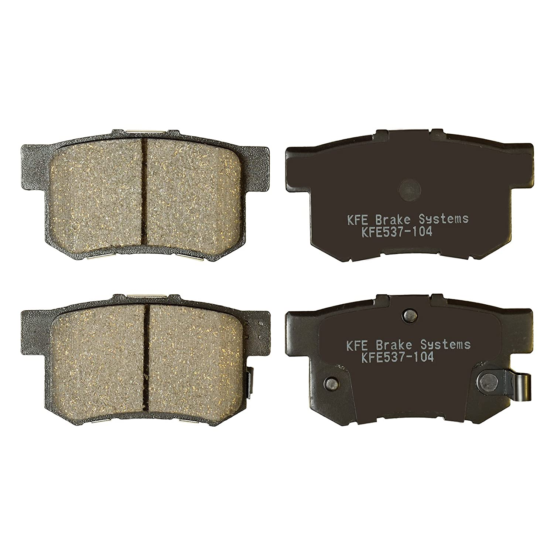 KFE Ultra Quiet Advanced KFE537-104 Premium Ceramic Rear Brake Pad Set KFE Brake Systems