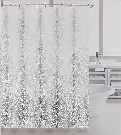 Tahari Fabric Shower Curtain Baaman Panel Gray