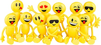 1 6 12 24 STRETCHY SMILEY MEN BOYS GIRLS TOYS FAVOURS BIRTHDAY PARTY BAG FILLERS