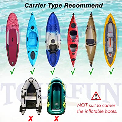 TOURFUN Kayak Cart Kayak Dolly Trolley for Canoe Boats Paddleboard ...