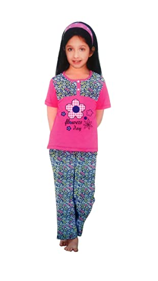 0754aeb2335 Baby Night Suit For Baby Girls Pink And Blue (4 Years)  Amazon.in ...