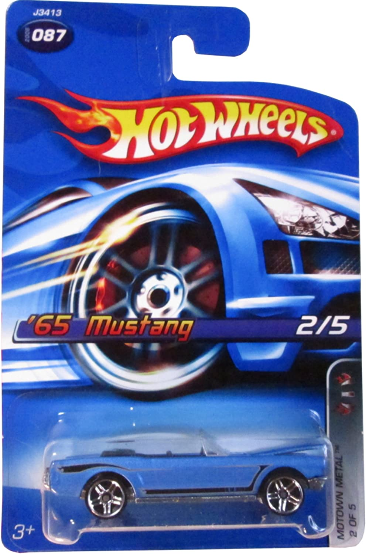 2006 Hot Wheels Motown Metal 65 Mustang Blue #2006-087