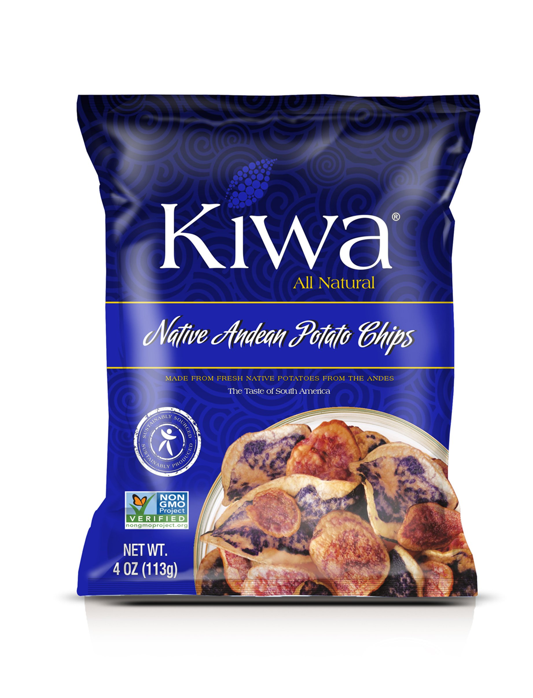 Kiwa Andean Potato Chips Mix (12 Pack, 4 Oz. Bag) All Natural Plant Based, Sustainably Sourced, Non-GMO, Gluten Free, Savory Snack by Kiwa