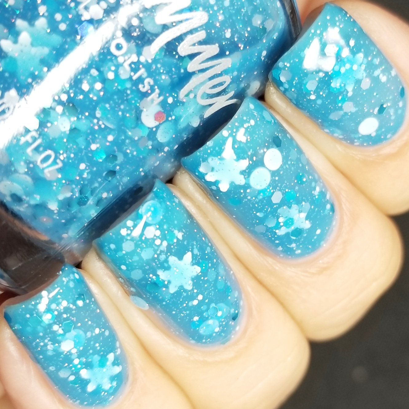 Amazon.com : I Got A Crush On Blue Glitter Nail Polish- 0.5 oz Full ...
