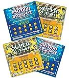 FMPLT- Fake Joke Lottery Tickets Scratch Off - All Win $50,000 - The Ultimate Prank (Multi-Pack D)