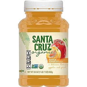 Santa Cruz Organic Apple Apricot Sauce, 23 Ounces (Pack of 12)