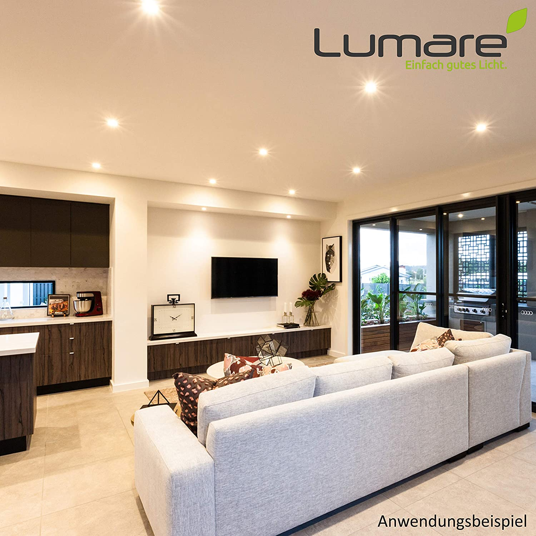 Spot de plafond 4W 400lm AC 230V 3x Lumare Slim Line LED spot encastrable IP44 rond//blanc avec seulement une profondeur dinstallation de 27 mm