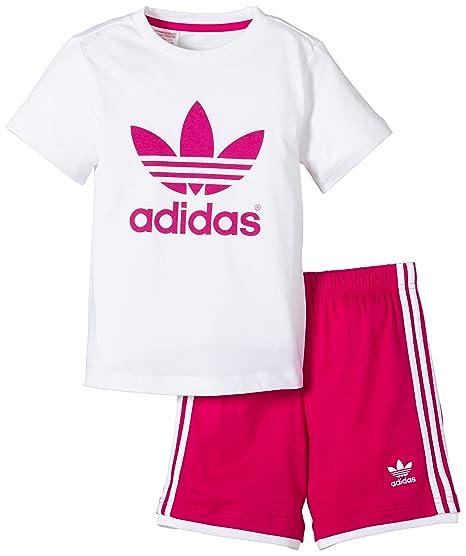 top adidas con pantalone e scarpe bambina