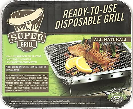 Super parrilla ready-to-use desechables Grill- 2 unidades: Amazon ...