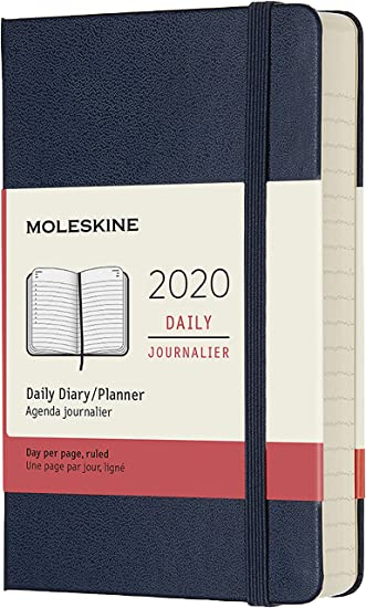 Moleskine Classic 12 Month 2020 Daily Planner, Hard Cover, Pocket (3.5