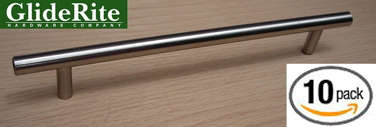 5004-192-SS-10 GlideRite 10-inch Stainless Steel Solid Bar Cabinet ...