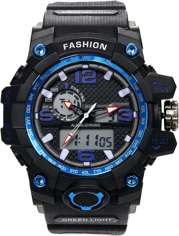 Hombre Digital Relojes, digitaluhr Negro Classic Casual Relojes con multifunción Cronógrafo Reloj Deportivo Quartz Reloj De Pulsera Para Hombres