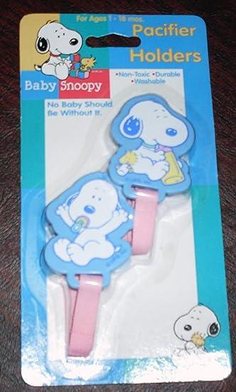 Amazon.com: Raro – cacahuetes Snoopy de bebé Chupete/Keeper ...