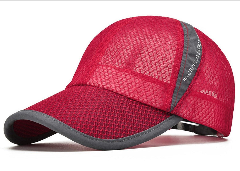 ELLEWIN Unisex Breathable Quick Dry Mesh Baseball Cap Sun Hat MZ0011BLK