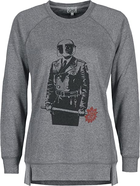 Obey Sadistic Florist W Sudadera heather grey: Amazon.es: Ropa y accesorios