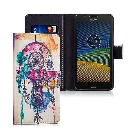 Lincivius Funda Moto G5 Plus, Lenovo Moto G5 Plus Bicolor [sueño de Lucha Libre] Estuche Wallet Originale Tapa Anti Golpes Resistente Accesorios con ...