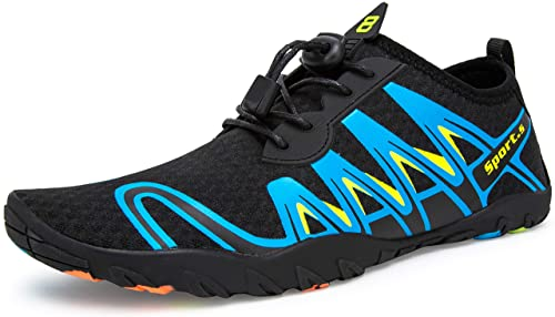 b646acb27fa8 Image Unavailable. Image not available for. Color  MURDESOT Mens Womens  Water Shoes Barefoot Swim Diving Surf Yoga Aqua Sports Quick Dry Pool Beach