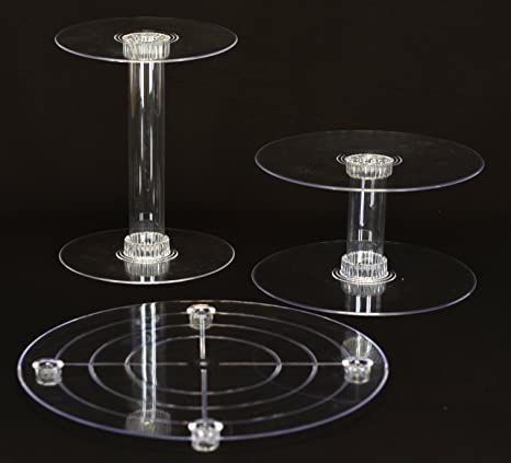 3 Tier Acrylic Wedding Cake Stand (STYLE R300) : acrylic cake plate - pezcame.com