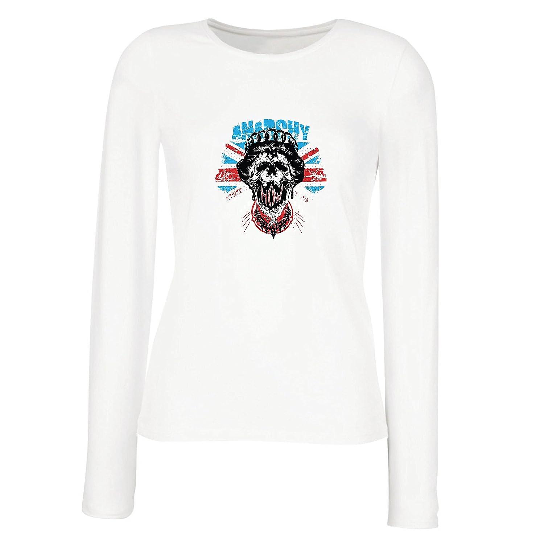 lepni.me Camisetas de Manga Larga para Mujer Reina de la Anarquía, Moda de la Calle, Símbolo anarquista, Arte antipolítico: Amazon.es: Ropa y accesorios