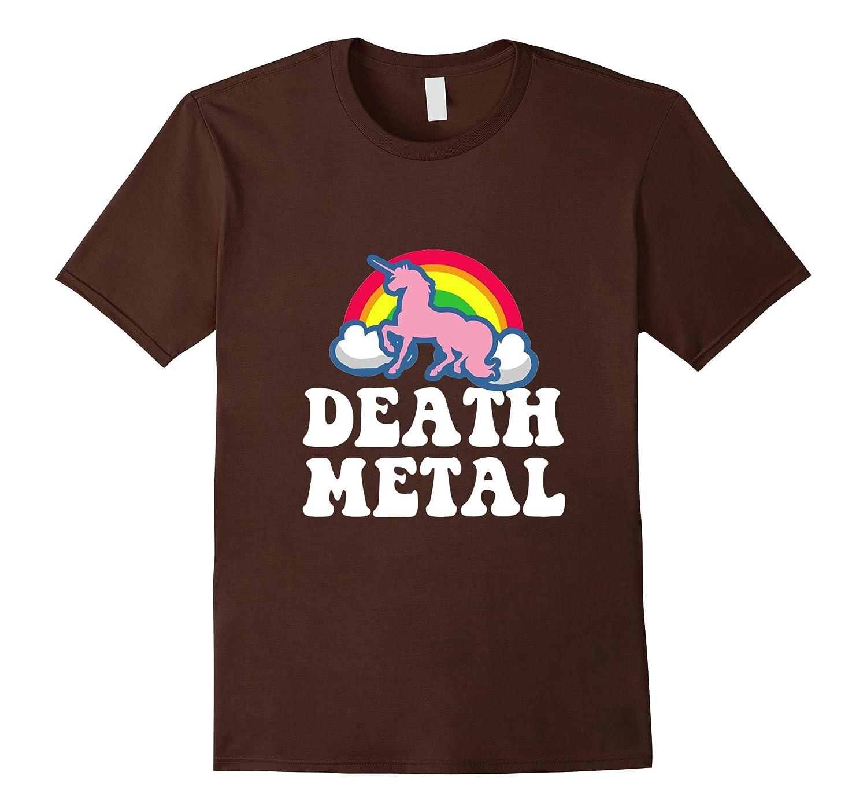 heavy metal tee unicorn rainbow clouds death metal t shirt cl - Death Metal Christmas