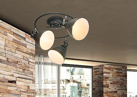 Deckenstrahler 3 flammig deckenleuchte retro design vintage lampe