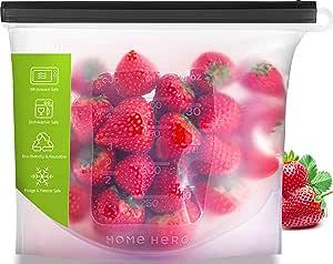 Reusable Silicone Food Bag (33.8 Ounce Bag) - Reusable Silicone Food Storage Bag Silicone Reusable Food Bag Reusable Silicone Bag Reusable Food Storage Silicone Sous Vide Bag Reusable Sous Vide Bag