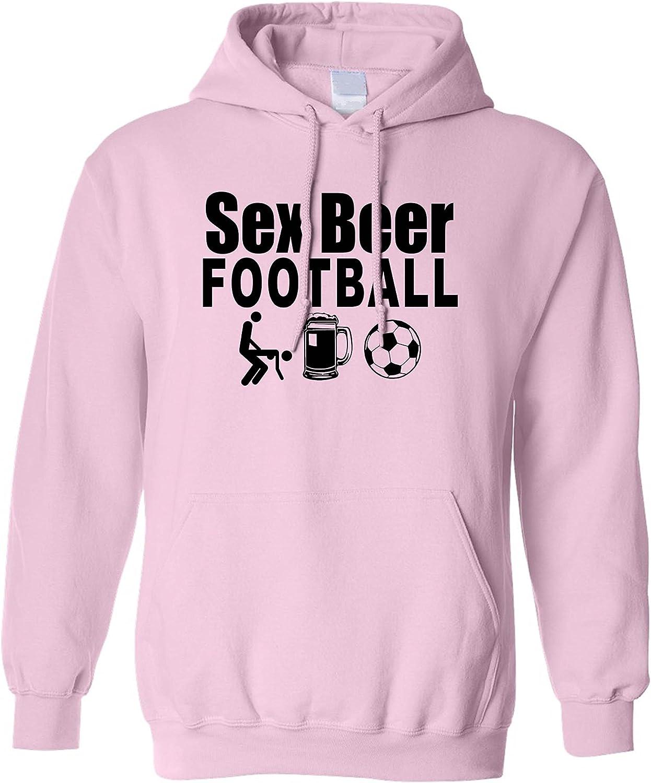 SHORE TRENDZ Mens//Unisex Pullover Hoodie Sex Beer Football