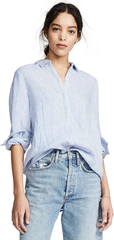 AYR The Easy Linen - Camisa para Mujer - Azul - Large: Amazon.es: Ropa y accesorios