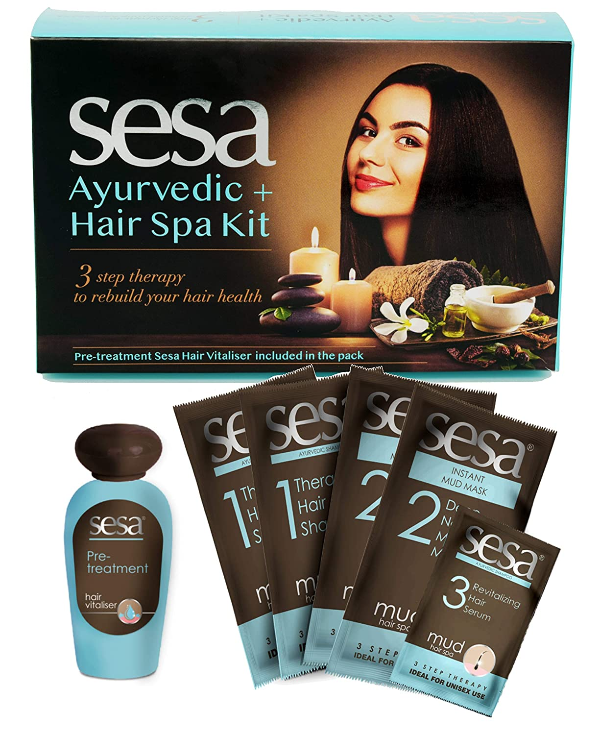 Sesa Ayurvedic + Hair Spa : Hair spa kit