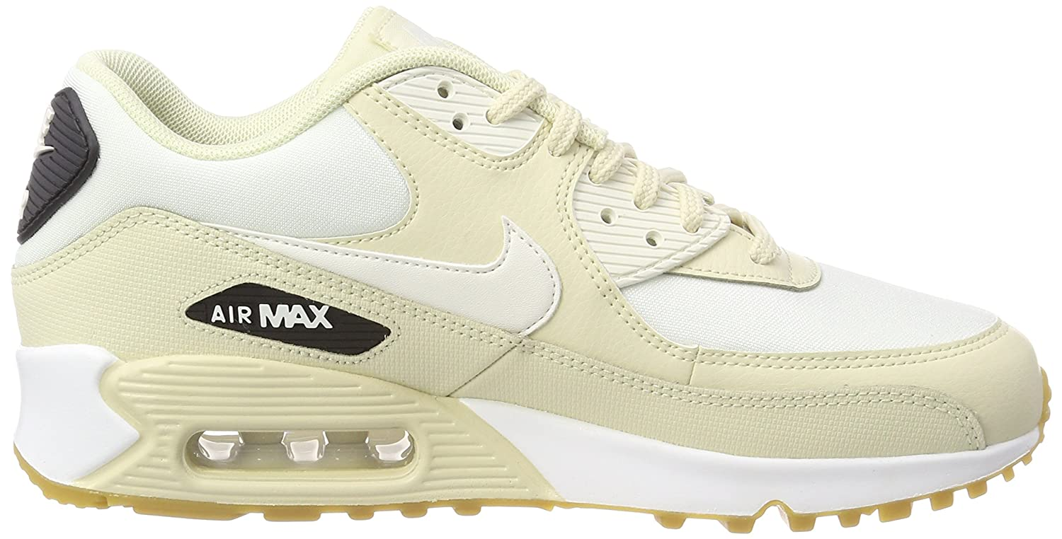 NIKE Damen Beige Air Max 90 Gymnastikschuhe Beige Damen (Fossil/Sail-black-gum Light Brown 325213-207) 69133f