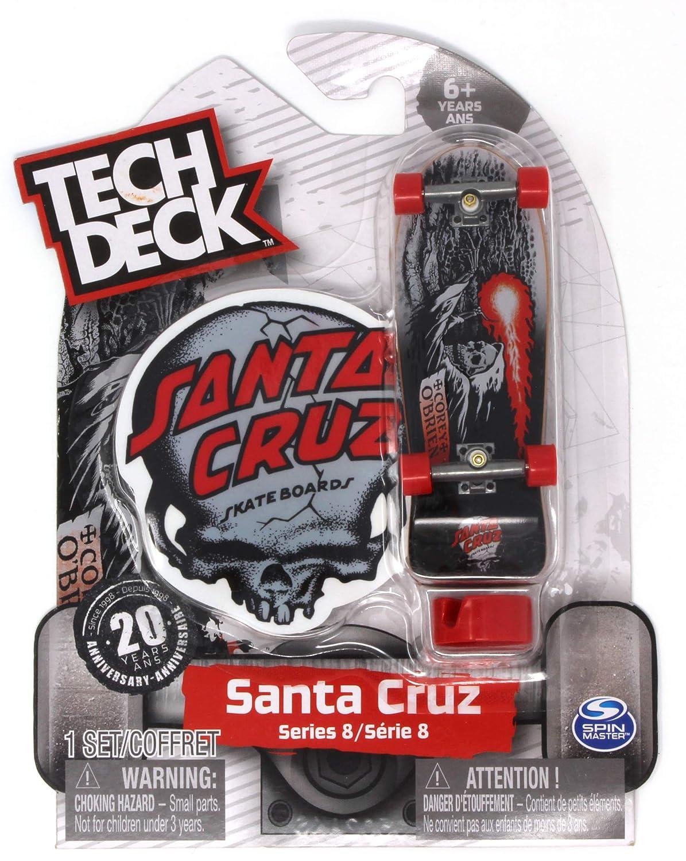 Tech Deck Santa Cruz Skateboards Series 8 Corey O'Brien Reaper Silver and Black Fingerboard 20094602