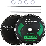 """(2-Set) 9"""" x 20T Chainsaw Tooth Brush Blades – 2 Blades, 3 Assorted Round Files (5/32'', 3/16'', 11/64'') and 4 Washers…"""