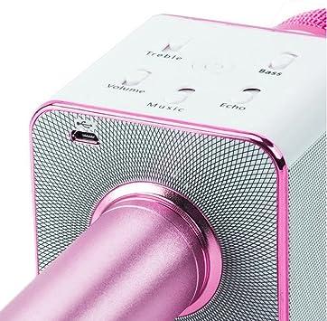 negro JTD Micr/ófono Inal/ámbricos Q7 Karaoke Speaker KTV Microphone Port/átil Bluetooth Condenser Micr/ófonos de para PC iPad iPhone Smartphone