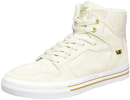 Supra Vaider, Hohe Sneakers Homme - Gris - Grau (Grey-White), 44