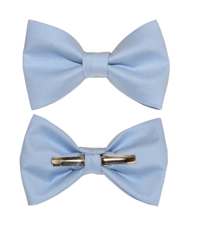 Boys Cornflower Blue Light Blue Clip On Cotton Bow Tie Bowtie amy2004marie 113272