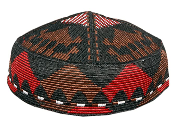 Men s Kashmiri Muslim Prayer Cap in Red and Black at Amazon Men s ... fa2a92cd9d