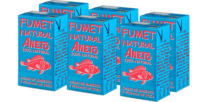 Aneto 100% Natural - Fumet de pescado y marisco - caja de 6 unidades de