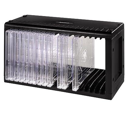 Cd Rek Accessoires.Hama 20 Cd Rack Black Amazon Co Uk Computers Accessories