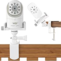 Baby Monitor Crib Mount Camera Shelf - Video Stand for Nursery - Universal Holder Compatible with Infant Optics DXR 8 and Most Other Baby Monitors - Attaches to Crib Cot Shelves or Furniture