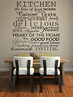 Amazoncom My Kitchen Was Clean Funny Dining Room Quote Wall Art