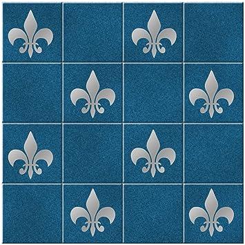 Fleur De Lis Stickers Pour Carrelage Lot De 15 Stickers Fleur De